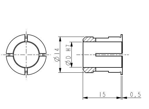 Boccola riduzione 10mm  18-PF5000-A