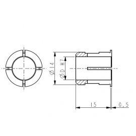 Boccola riduzione 12mm  18-PF4257
