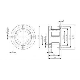Campana supporto encoder  18-MOL-25-10-10