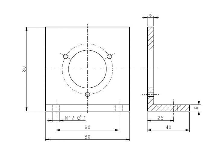 Staffa a L encoder  18-LKM-386