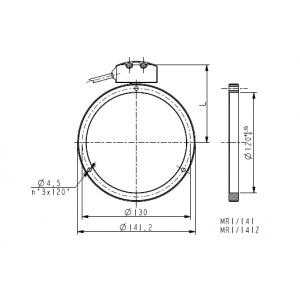 Anello magnetico foro 120mm MRI_141-90-5-120